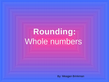 Rounding Lesson Whole Numbers