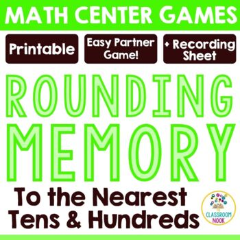 Rounding Match-Up Game - Rounding to the Nearest Tens and Hundreds