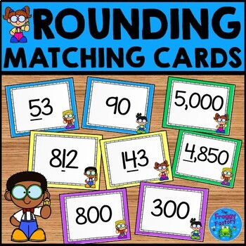 Rounding Practice - Matching Cards