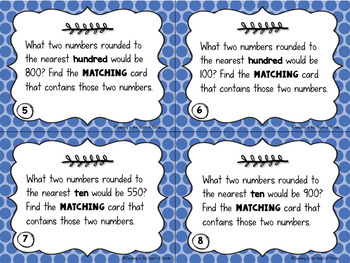Rounding Matching Math Centers