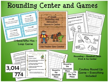 Rounding & Estimation Math Center & Games - 3rd Grade