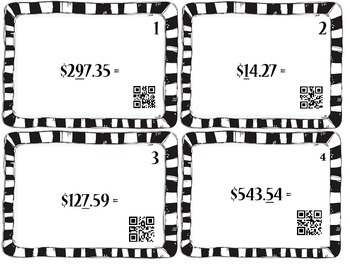 Rounding Money.  QR Codes Included!!
