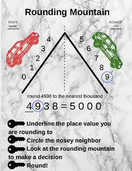 Rounding Mountain Worksheets & Teaching Resources | TpT