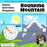 Rounding Mountain Number Line Game, Lesson + Intervention 3.NBT.A1