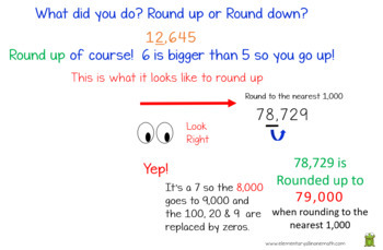 Rounding Multi Digit Whole Numbers - PowerPoint 4th Grade (4.NBT.3)