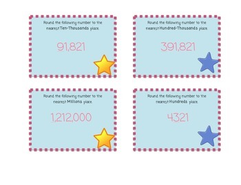 Rounding Multi-Digit Whole Numbers Task Cards