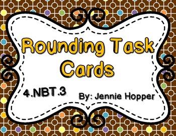 Rounding Multi-digit Numbers 4.NBT.3 Task Cards