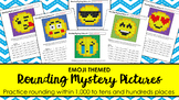 Rounding Mystery Pictures (10s & 100s places)- Emoji Theme