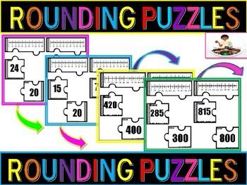 Rounding Number Puzzles (Nearest 10, Nearest 100)