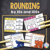 Rounding to the Nearest 10 and 100 Task Cards {3.NBT.1}