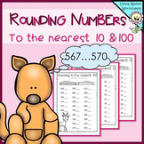 Rounding Numbers to the Nearest 10 and 100 - Round Whole Numbers