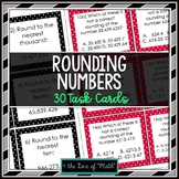 Rounding Numbers: 30 Task Cards (Short Answer & Multiple Choice)