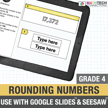 Rounding Numbers - 4th Grade for use with Google Drive™