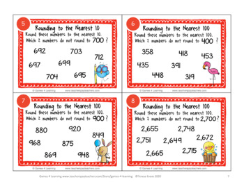 Rounding Numbers Activity: Rounding to the Nearest 10 and 100 Task Cards Freebie