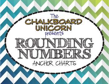 Rounding Numbers Anchor Chart (English & Español)