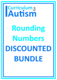 Rounding Numbers BUNDLE Autism Independent Work Tasks