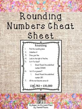 Rounding Numbers Cheat Sheet