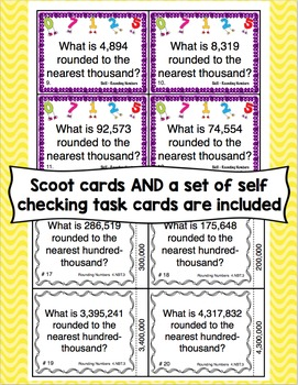 Rounding Numbers Common Core Standards Pack CCSS 4.NBT.3