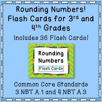 rounding numbers flash cards common core 3rd grade and 4th grade. Black Bedroom Furniture Sets. Home Design Ideas
