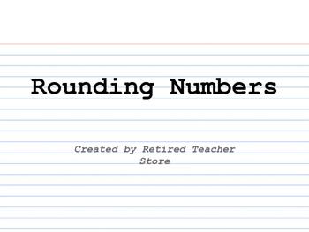 Rounding Numbers INB