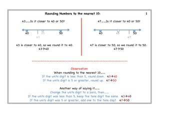 Rounding Numbers Instructional and Task Cards
