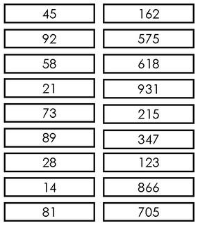Rounding Numbers Interactive notebook activity