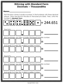 Rounding Numbers Math Centers