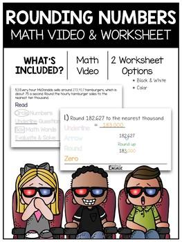 Rounding Numbers Math Video & Worksheet