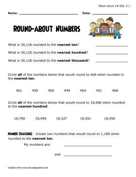 VA SOL 3.1  Rounding Numbers-Mixed Practice
