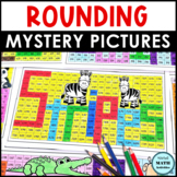 Rounding Numbers Mystery Pictures - Animal Edition