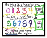 Rounding Numbers & Place Value- Is your Neighbor a Nice Guy or a Bully?