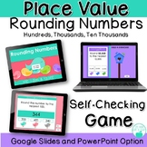 Digital Rounding Numbers Place Value Self-Checking Game