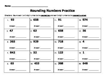 Rounding Numbers Practice Bundle (6 worksheets)
