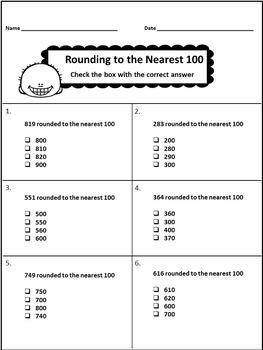 Rounding Numbers Printables