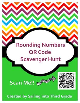 Rounding Numbers QR Code Scavenger Hunt