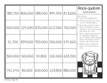 Rounding Numbers Race-quation