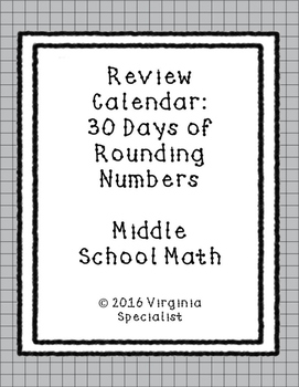 Rounding Numbers Review Calendar