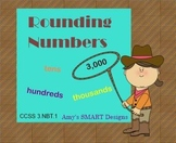 Rounding Numbers Round-Up SMARTboard and Game Bundle