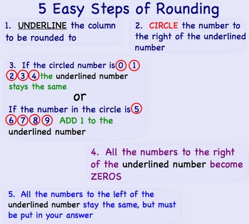 Rounding Numbers Smartboard Math Lesson