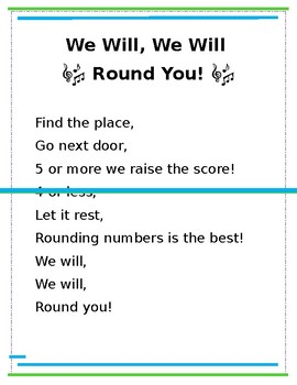Rounding Numbers Song