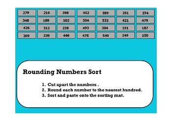 Rounding Numbers Sort (Hundreds)