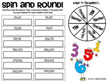 Rounding Numbers: Spin and Round Differentiated Practice Activities