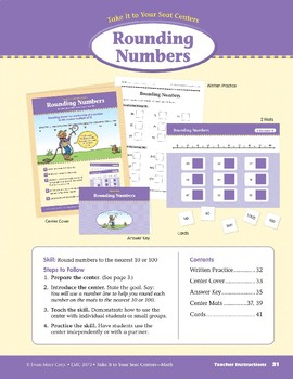 Rounding Numbers (Take It to Your Seat Centers Common Core Math)