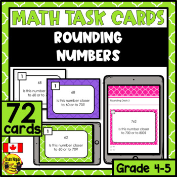 Rounding Numbers Task Cards Grades 4-5