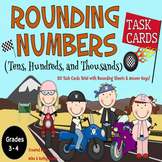Rounding Numbers Task Cards {Tens, Hundreds, and Thousands}