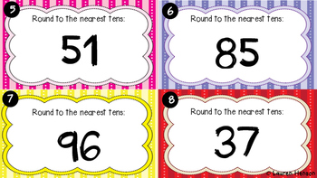 Rounding Numbers Task Cards (to the nearest 10)