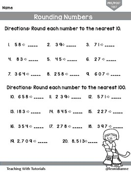 Rounding Numbers Tutorial Worksheets
