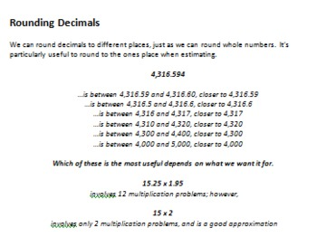 Rounding Numbers-- What You Need to Know, and Resources to Teach It
