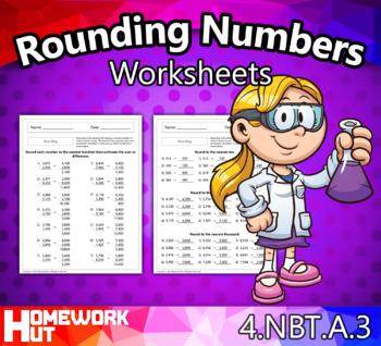 4.NBT.3 - Rounding Numbers Worksheets