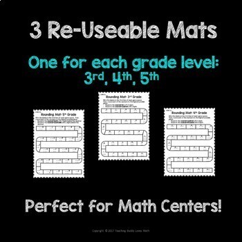 Rounding Numbers and Decimals Math Games and Mats 3rd Grade 4th Grade 5th Grade